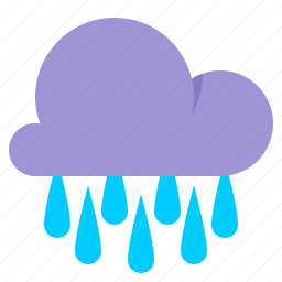 cloud, rain, rainfall, weather icon