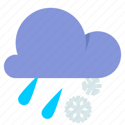 cloud, cold, sleet, weather icon