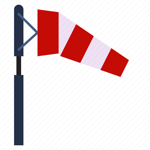 small, weather, wind, windsock icon