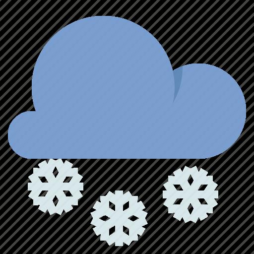 cloud, snow, snowflake, weather icon