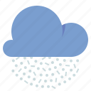 cloud, snow, snow grains, weather icon