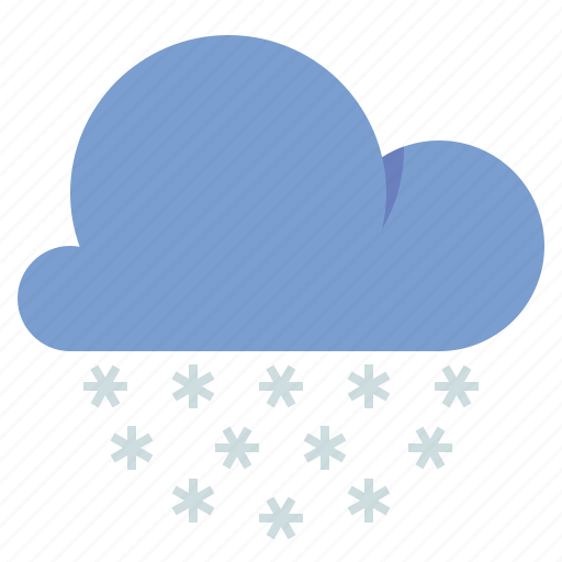 cloud, snow, snow pellets, weather icon
