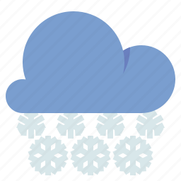 cloud, snow, snowfall, weather icon