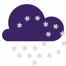 cloud, snowstorm, weather, wind icon