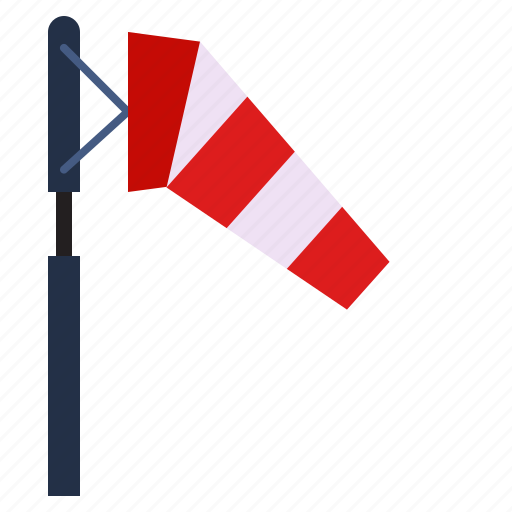 weak, weather, wind, windsock icon