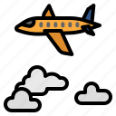 weather, cloudy, sky, aircraft, plane, cloud, fly