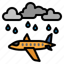 weather, cloudy, sky, aircraft, plane, cloud, rain