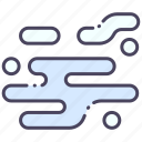 air, cloud, effect, fog, mist, smoke, stream icon