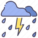 cloud, light, nature, rain, storm, thunderstorm, weather icon