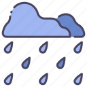 drop, nature, rain, season, water, weather, wet icon