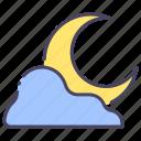 cloudy, dark, moon, moonlight, nature, night, sky icon