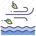 fresh, nature, season, spring, water, wave, wind icon