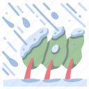 cold, frost, nature, snow, storm, tree, winter icon