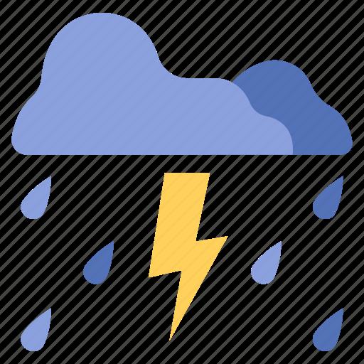 Cloud, light, lightning, nature, rain, storm, thunderstorm icon - Download on Iconfinder