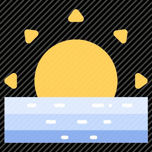 horizon, morning, nature, sun, sunlight, sunrise, sunset icon