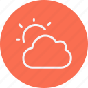 cloud, forecast, night, rain, sky, weather icon