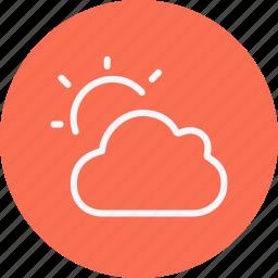 cloud, forecast, night, rain, sky, weather icon