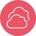 cloud, clouds, cloudy, forecast, rain, temperature, weather icon