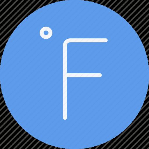 degrees, farenheit, forecast, sign, symbolism, temperature, weather icon