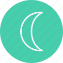 cloud, forecast, moon, night, phases, sky icon