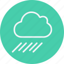 cloud, forecast, night, rain, rainy, sky, umbrella icon
