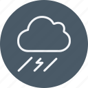 clouds, day, forecast, rain, storm, weather, wind icon
