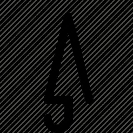 closed, dry, umbrella icon