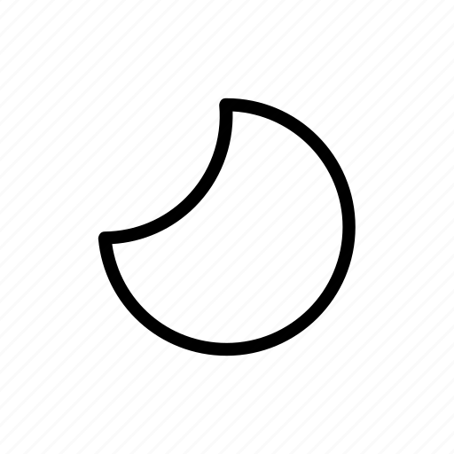 half moon, moon, weather, widget icon