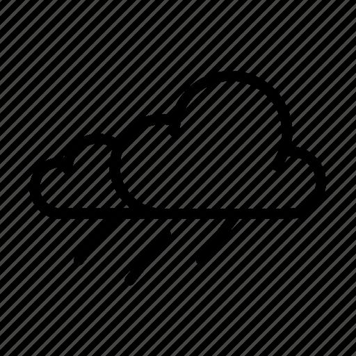cloud, rain, storm, weather, widget icon