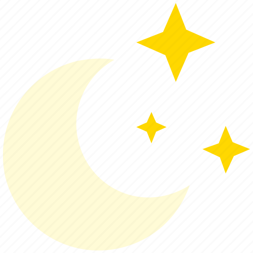 clear, moon, night, sky, star, starry icon