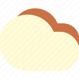 clouds, cloudy, dull, fluffy, sky icon