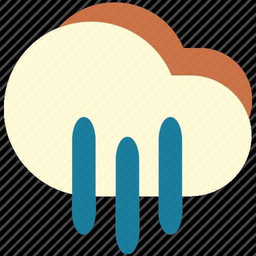 downpour, heavy, rain, rainy, wet icon