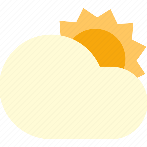 cloudy, day, slightly, sun, sunny icon