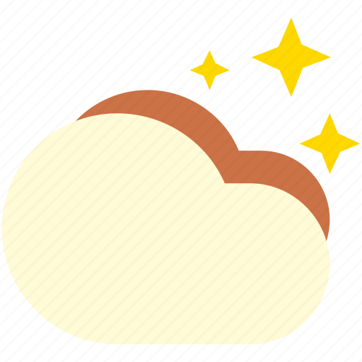 clouds, cloudy, night, starry, stars icon