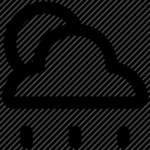 atmosphere, cloud, rain, raindrops, raining, sun, weather icon