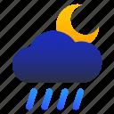 cloud, moon, night, rainy