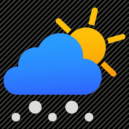 Snow, sun, weather, winter icon - Download on Iconfinder