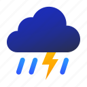 lightning, thunder, thunderstorm, weather icon