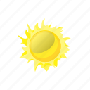 cartoon, element, hot, sign, sun, sunlight, sunshine icon