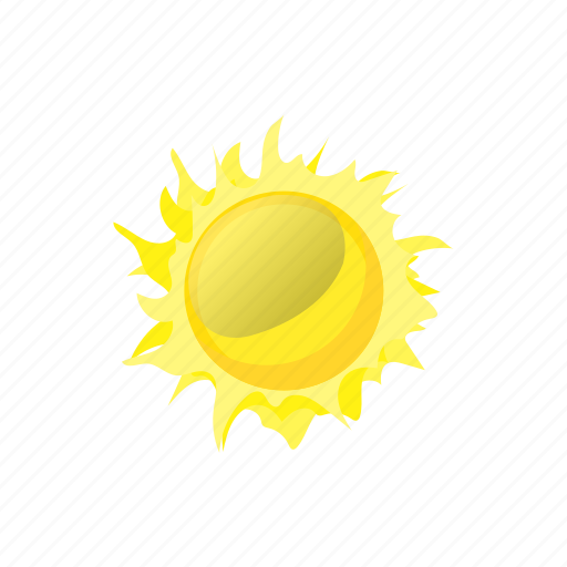 cartoon, element, hot, sign, sun, sunlight, sunshine icon