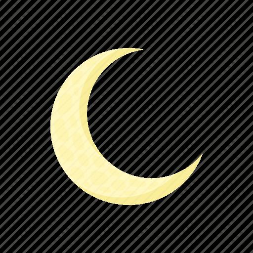 astronomy, cartoon, crescent, half, moon, night, space icon