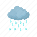 cartoon, cloud, nature, rain, sky, water, weather icon