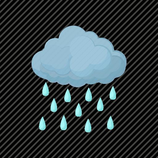 cartoon, cloud, nature, rain, sky, water, weather icon