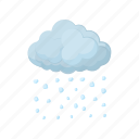 cartoon, cloud, element, grey, hail, nature, sign icon
