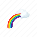 cartoon, cloud, concept, nature, rainbow, sky, summer icon
