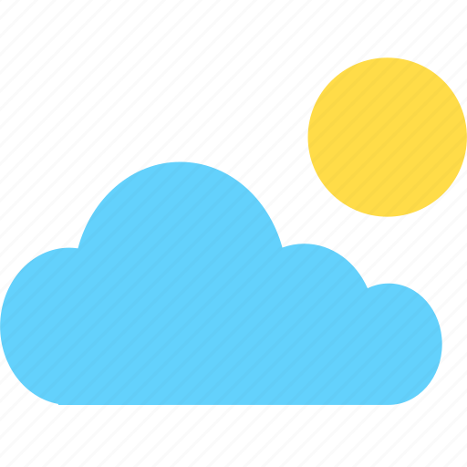 cloud, cloudy, hot, summer, sun, sunny, weather icon