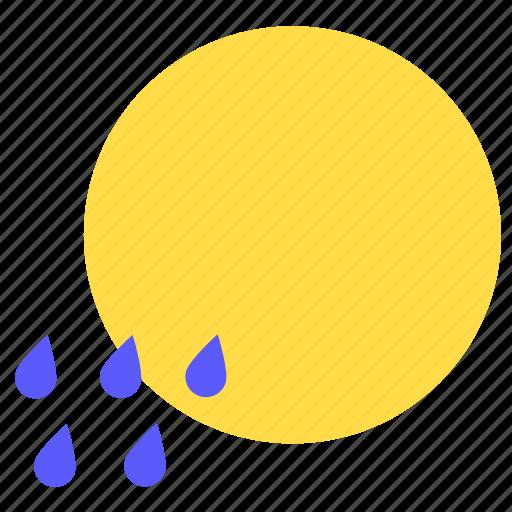 hot, rain, rainy, summer, sun, sunny, weather icon