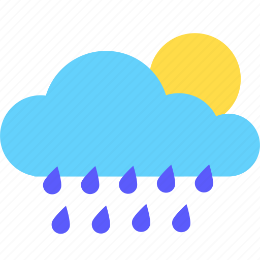 Cloud, cloudy, rain, sun, sunny, weather icon - Download on Iconfinder