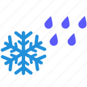 rain, rainy, snow, snowy, weather, winter icon