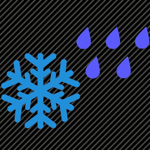 rain, rainy, snow, snowy, weather, winter icon